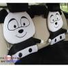 汽车坐垫 四季坐垫 卡通熊猫毛绒坐垫 高级舒适可爱