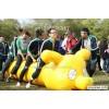 广东充气趣味道具充气毛毛虫充气大气球充气财源滚滚充气跨栏玩具